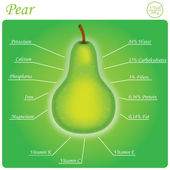 Pear composition — Stock Vector