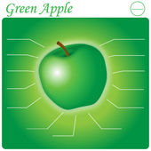 Green Apple Infogram — Stok Vektör