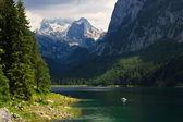 Wysoki alpejskie jezioro gossau, austria — Zdjęcie stockowe