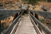 Wood bridge — Stockfoto