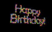 с днем рождения шары — Стоковое фото