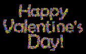 Happy Valentine's Day balloons — Foto Stock