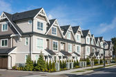 Modern townhouse complex — Stock Photo