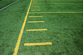 American football field — Foto Stock