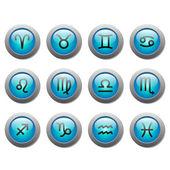 Zodiac buttons — Stock Vector