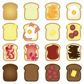 Set of toasts — Stock Vector