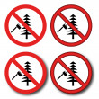 Stock Vector: No felling