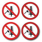 No felling — Stock Vector