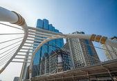 Skywalk at bangkok financial district — Stock Photo