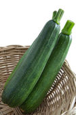 Zucchini in Basket — Stock Photo