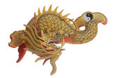 Chinese style fish sculpture — Stock Photo
