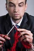 Businessman makes his career — Foto de Stock