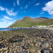Stock Photo: Shingle beach of Famjin, Suduroy, Faroe Islands