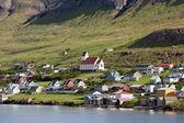Tvoroyri, главный город suduroy, Фарерские острова — Стоковое фото