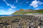 Shingle beach of Famjin, Suduroy, Faroe Islands — Stock Photo