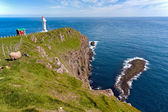 Faroe Islands, landscape of Akraberg lighthouse — Stock Photo
