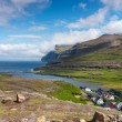 Stock Photo: Faroe Islands, village surrounded by unspoilt nature