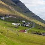 Faroe Islands, remote village of Kunoy — Stock Photo #38760431