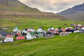 Faroe Islands, idyllic village of Gjogv — Stock Photo