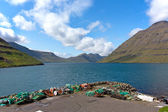 Faroe Islands, Haraldssund fiord . Natural landscape . — Stock Photo