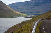 Faroe Islands, fjord landscape — Stock Photo