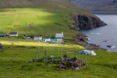 Faroe Islands, village of Vidareidi — Stock Photo