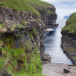 Gjogv, Faroe Islands : natural harbour in the gorge — Stock Photo