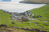 Scenic view of Vestmanna, Faroe Islands — Stock Photo