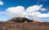 Volcanic desert of Lanzarote — Stock Photo