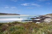Isle av harris, vita sandstranden vid lågvatten — Stockfoto