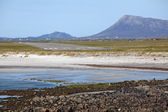 Runway at Benbecula Airport, Outer Hebrides, Scotland — Foto Stock