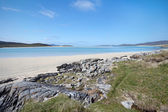 Tidal beach on Harris, Outer Hebrides of Scotland — Stock Photo