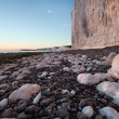 Stock fotografie: Birling Gap, Seven Sisters white cliffs at sunset