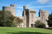 Bodiam castle and surrounding green park — Stock Photo