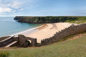 Barafundle Bay, secluded beach in Wales — Stock Photo