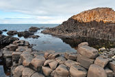 Basalt columns of Giant's causeway — Stock Photo