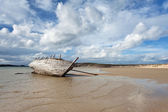 Wreck of a boat in Bunbeg, Donegal  — Stock Photo