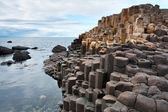 Giant's causeway, Northern Ireland coast — Stock Photo