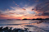 Dramatic sky at sunset on the Isle of Iona, Scotland — Stock Photo