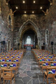 Iona, the nave of the Abbey church — Stock Photo