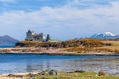 Duart Castle, scenery of Mull island — Stock Photo
