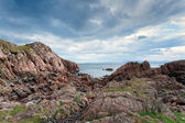 Pink granite rocks on Mull, Scotland — Stock Photo