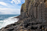 Basalt columns on Staffa, Scotland — Stock Photo