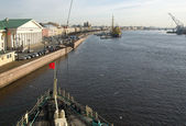"St. Petersburg. View of the Neva from the icebreaker ""Krasin"" — Foto de Stock"