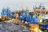 Boats at harbour — Stock Photo