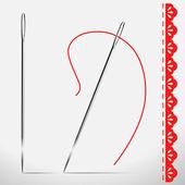 Needle — Stock Vector