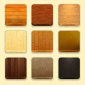 Wood icons — Stock Vector