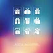 Box Icons — Stock Vector