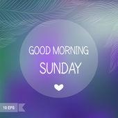 Sunday — Stock Vector