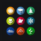Vector season icons — Vecteur